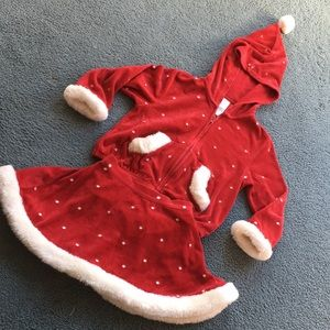 Gymboree 'Mountain Cabin' 3-pc SANTA Skort Outfit